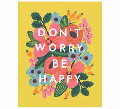 Don't Worry, Be Happy by Rifle Paper Co. | Pottery Barn